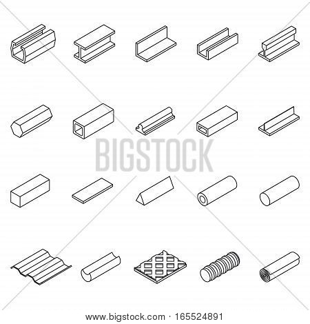 Metal Product Icon Thin Line Set Symbols Pixel Perfect Art. Material Design for Web and App. Vector illustration