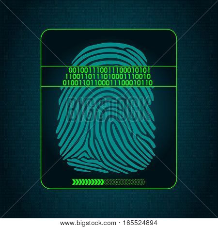 fingerprint scanning - digital security system, biometric, access, data protection