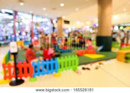 Blurred of children zone in department store