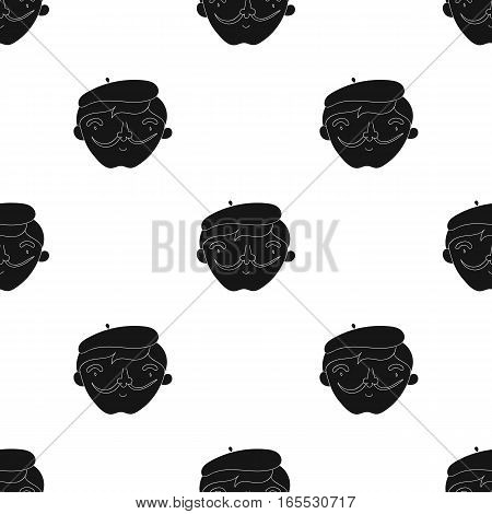 Dip pen with inkwell icon in Black style isolated on white background. Artist and drawing pattern vector illustration.