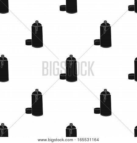 Self-portrait of artist icon in Black style isolated on white background. Artist and drawing pattern vector illustration.