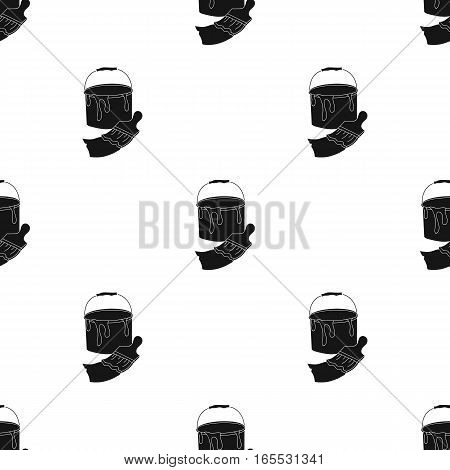 Sketchbook with drawings icon in Black style isolated on white background. Artist and drawing pattern vector illustration.