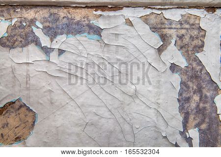 background texture of the old shabby paint is scratched