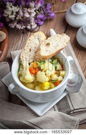 Fresh Homemade Vegetable Soup.
