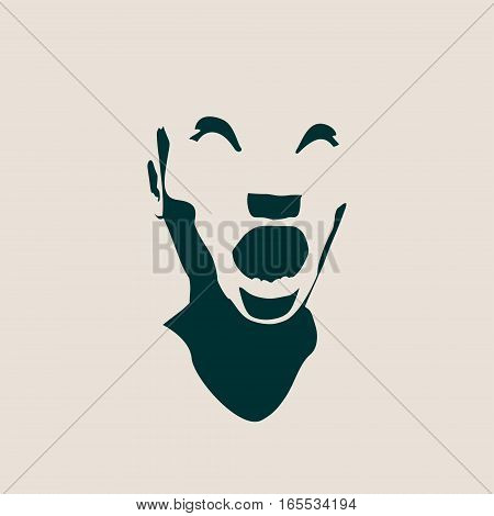 Human emotions expression vector illustration. Isolated avatar of the expressions face. Emotional head illustration. Shout of despair