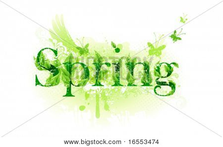 Spring time label