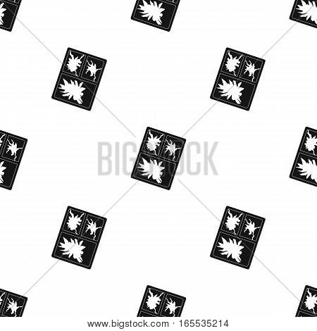 Broken window icon in black style isolated on white background. Trash and garbage pattern vector illustration.