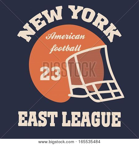 New york football typography set, t-shirt graphics - vector