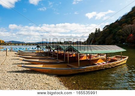 Boats At Arashiyama, Kyoto