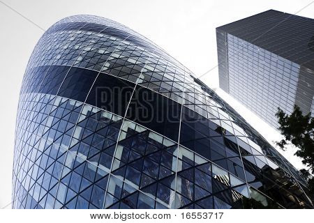 Modern London skylline in the financial district