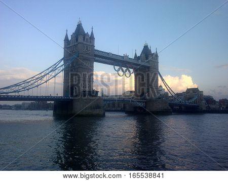 LONDON, UK - JUL 9: Tower Bridge in London, England in the UK as seen on July 9, 2012.