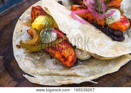 Fish tacos al pastor authentic mexican cuisine