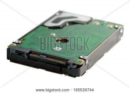 computer hard disc on a white background