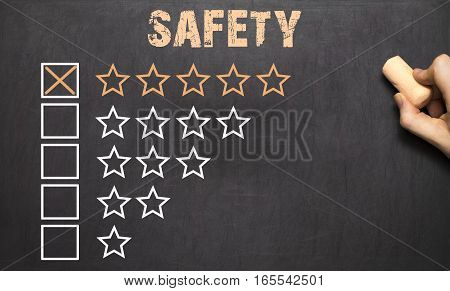 Best Safety Five Golden Stars.chalkboard
