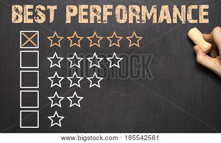 Best Performance Five Golden Stars.chalkboard