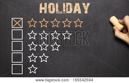 Best Holiday Five Golden Stars.chalkboard