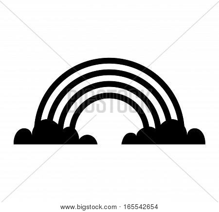 cute rainbow isolated icon vector illustration design