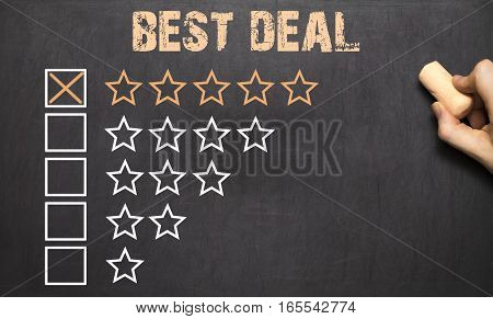 Best Deal Five Golden Stars.chalkboard