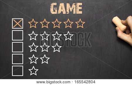 Best Game Five Golden Stars.chalkboard
