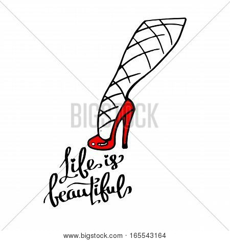 vector fashion illustration silhouette sketch footwear design