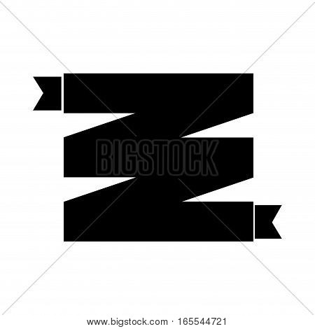 frame with ribbon decorative vector illustration design