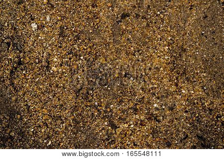 Gravel texture, pebble and sand background, ground