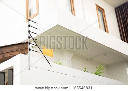 The Electric fence for protect residential house