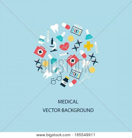 Health care and medical research background. Healthcare system. Medicine and chemical engineering