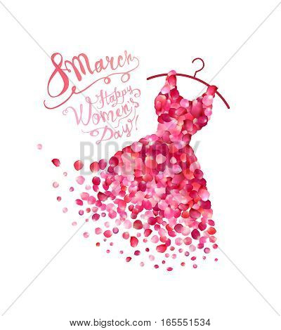 Happy Woman's Day! 8 March Holiday. Dress