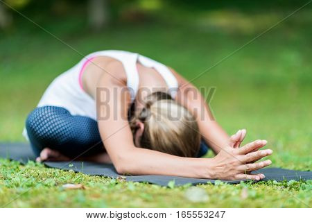 Yoga Setated Forward Bend