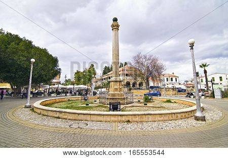 KYRENIA CYPRUS, NOVEMBER 28 2015: street photography - roundabout at Kyrenia occupied Cyprus. Editorial use.