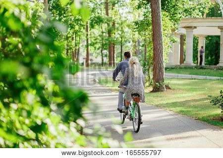 Couple With Tandem Bicycle