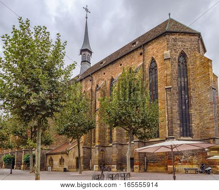 The construction of the Dominican church mainly dates back to the first half of the 14th century Colmar Alsace France