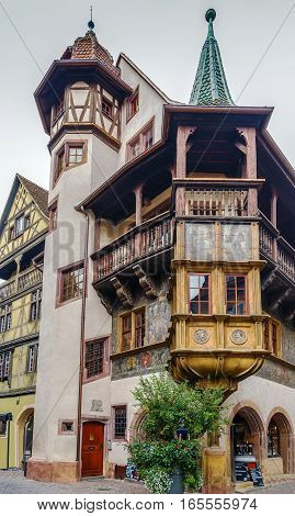 The Pfister house is a historical monument located in Colmar in the French department of Haut-Rhin.