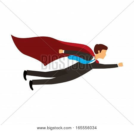 businessperson flying avatar icon vector illustration design