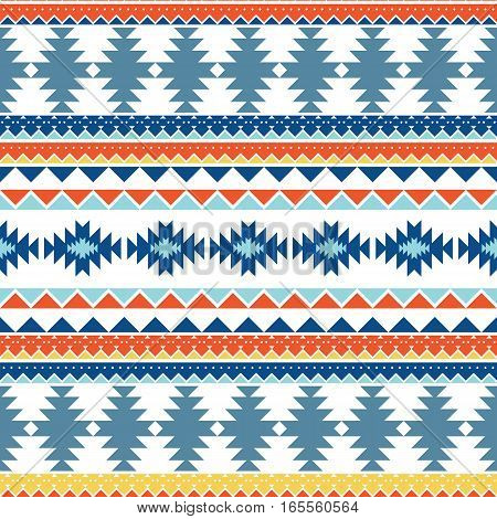 Seamless pattern in the style of the American Indians. Tribal Style. Geometric ornament. Texture for background, tissue wrapping paper.