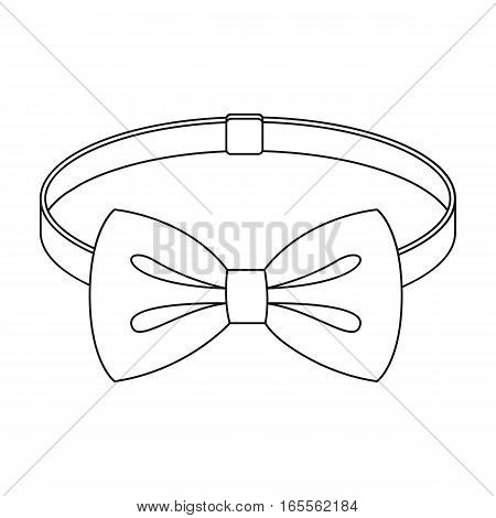 Bow tie icon in outline design isolated on white background. Hipster style symbol stock vector illustration.