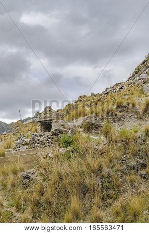 Rocky Mountain At Quilotoa Crater, Latacunga, Ecuador
