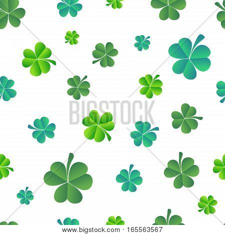 Vector Illustration of a St. Patrick's Day Background seamless pattern