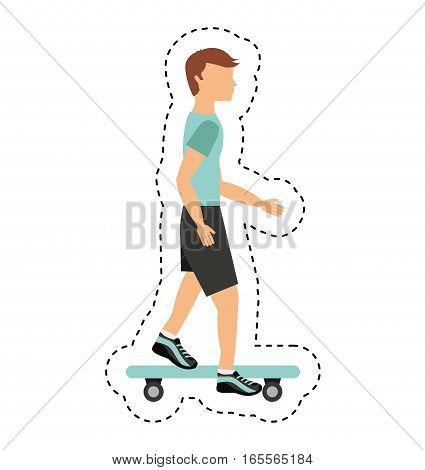 skate board extreme sport vector illustration design