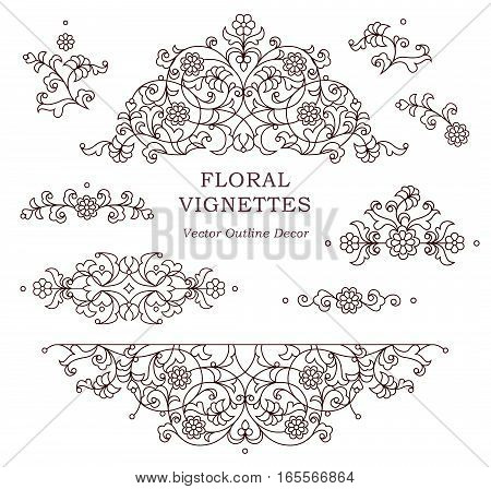 Vector Set Of Vintage Vignettes In Eastern Style.