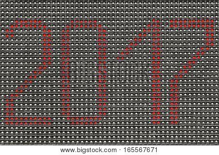 LED digital information matrix close up. Background