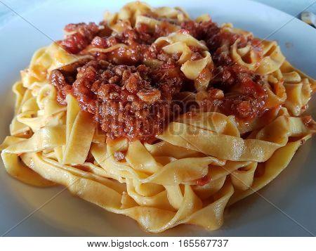 Lasagne with vegetarian ragout - italian food