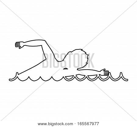 swimming competition sport icon vector illustration design