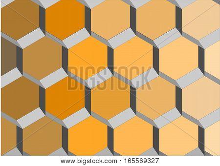 Honeycombs. Lattice.Hexagon,  grid,  abstract , geometric  illustration.
