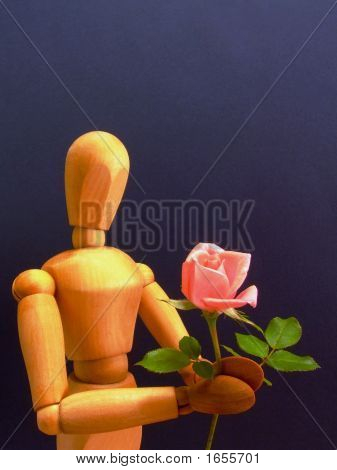 Manikin With Rose (Vertical)