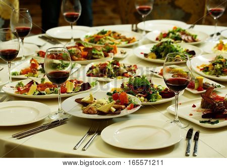 Delicious Food On Plates
