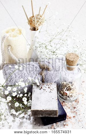 Close-up photo soap in studio environment, soap, healty and beauty