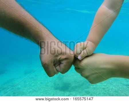 Human Hands In Water