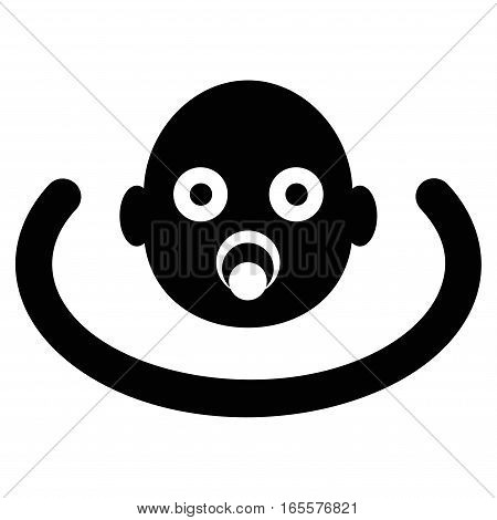 Baby Environment vector icon. Flat black symbol. Pictogram is isolated on a white background. Designed for web and software interfaces.
